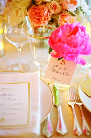 hot pink and gold wedding color ideas for summer 2014