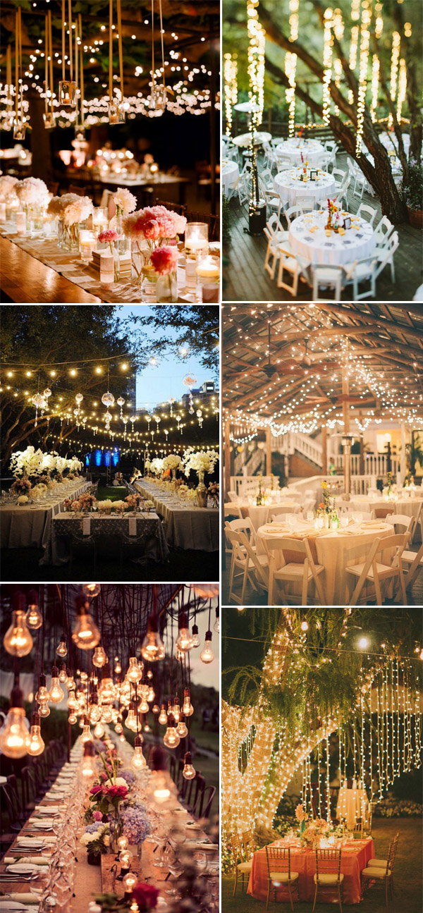 wedding reception ideas with hanging lights for 2014 decorations