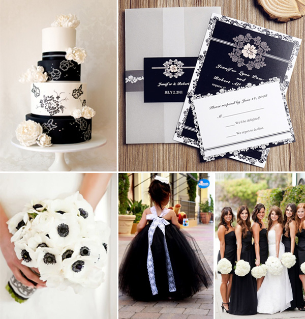 2017 Black And White Wedding Ideas Invitations