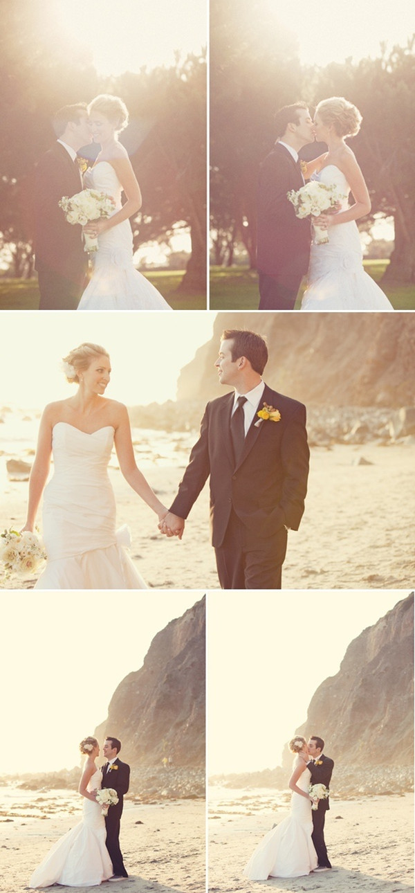 beach wedding photo ideas in the afternoon for couples