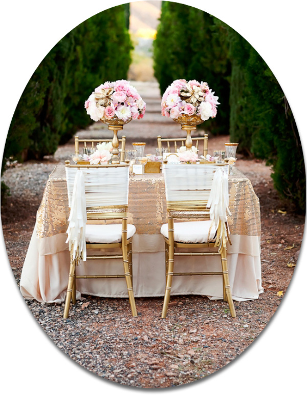 blush and champagne wedding table decoration ideas 2014