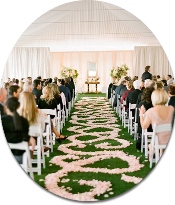 blush elegant pestal wedding ceremony ideas 2014