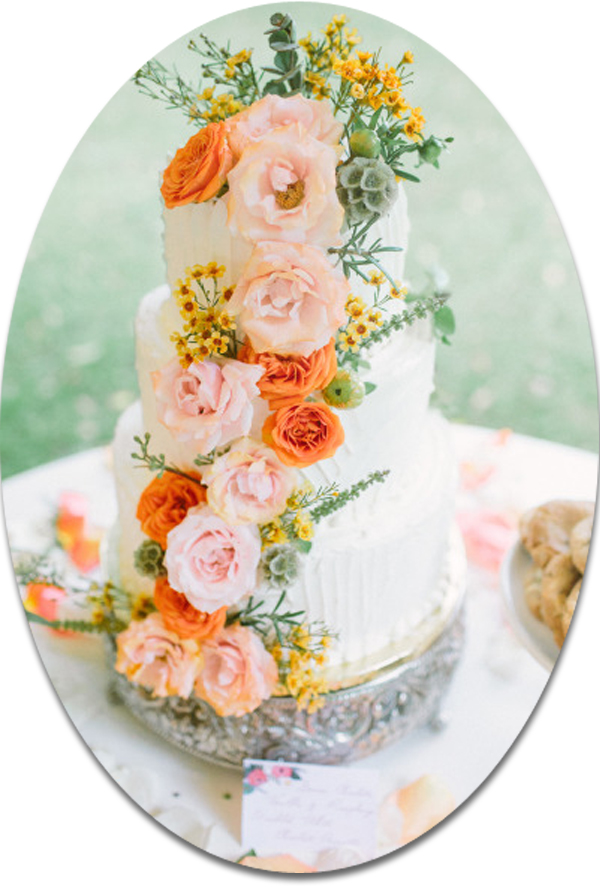 boho theme shabby chic wedding cakes 2014