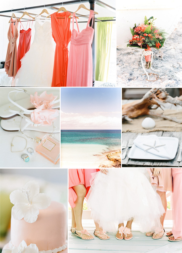 coral and blush beach wedding ideas for 2014 summer weddings