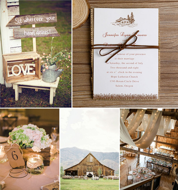 country rustic burlap wedding invitations and ideas 2014
