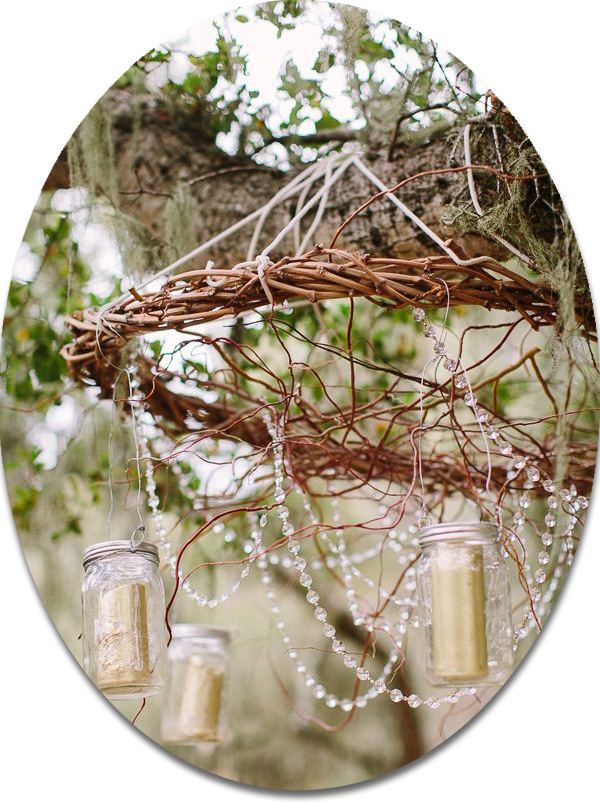 hanging mason jars for country rustic wedding ideas 2014