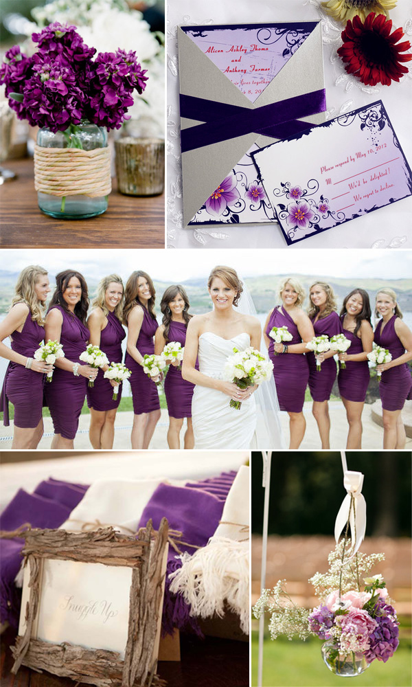 rustic purple plum wedding invitations and wedding ideas 2014