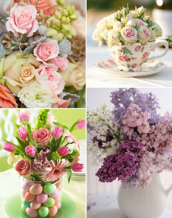 floral ideas for easter themed bridal shower party