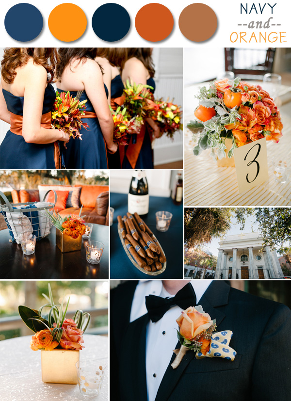 Navy And Orange Fall Wedding Color Ideas 2017 Autumn