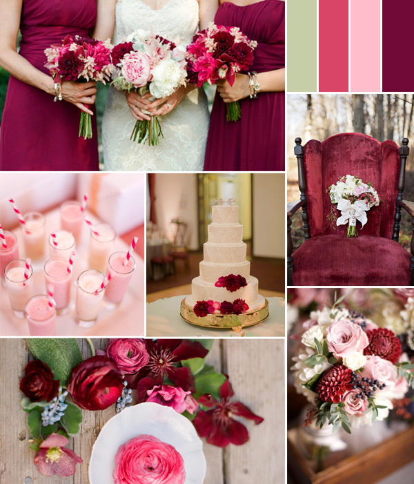 Wedding Color Ideas Summer: Fabulous Pink Wedding Color Combo Ideas For Different