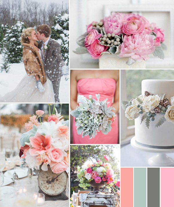 Wedding Ideas By Colour: Fabulous Pink Wedding Color Combo Ideas For Different