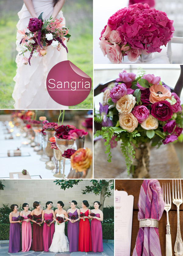 Sangria And Shades Of Purple 2017 Fall Wedding Color Ideas