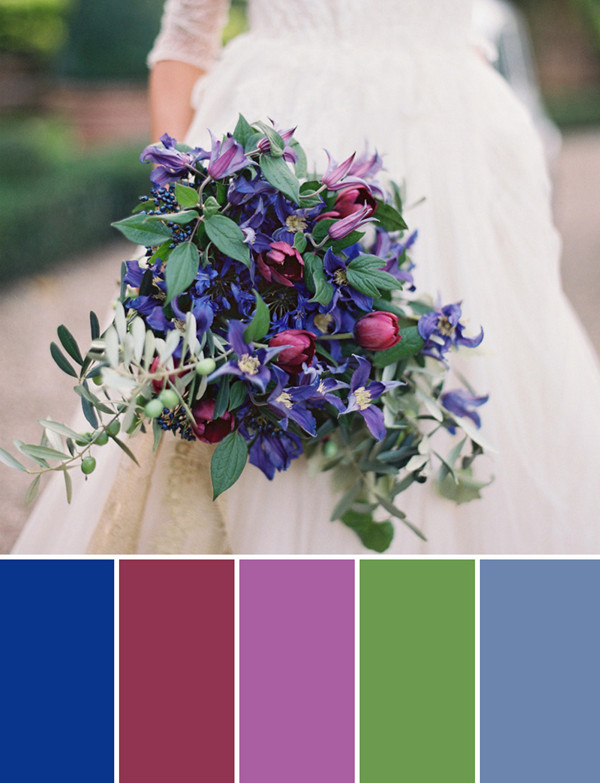 Blue And Purple Fall Wedding Bouquet Ideas For 2017