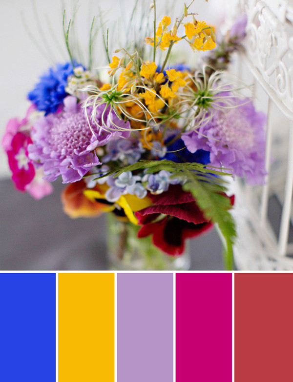 country fall wedding flower ideas with royal blue orchid and burgundy colors