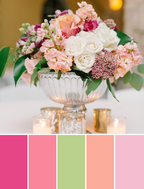 fall pastel wedding color flower arrangement ideas for 2014