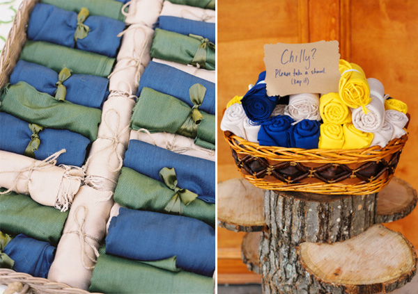 towel outdoor fall wedding favor ideas to keep guests warm