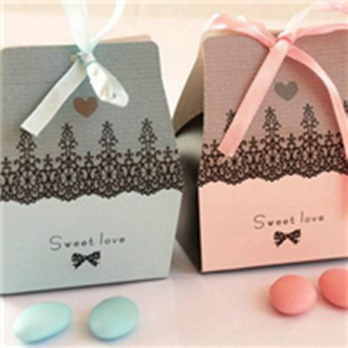 Peach Wedding Favor Box