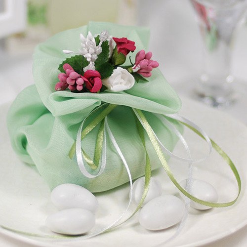 Mint Wedding Favor Bags