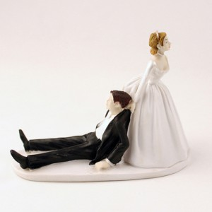 You're Mine Funny Wedding Cake Topper