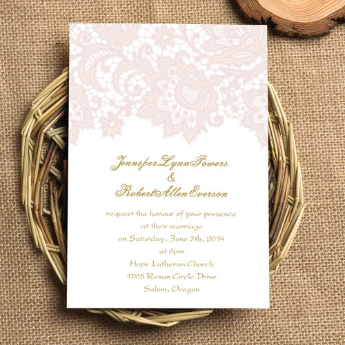 Lace Blush Wedding Cards