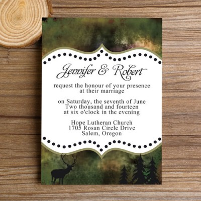 inexpensive mossy oak camo wedding invites EWI341