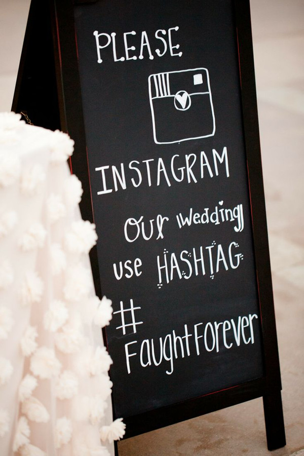 elegant wedding hashtag sign ideas with instagram to document your event 10