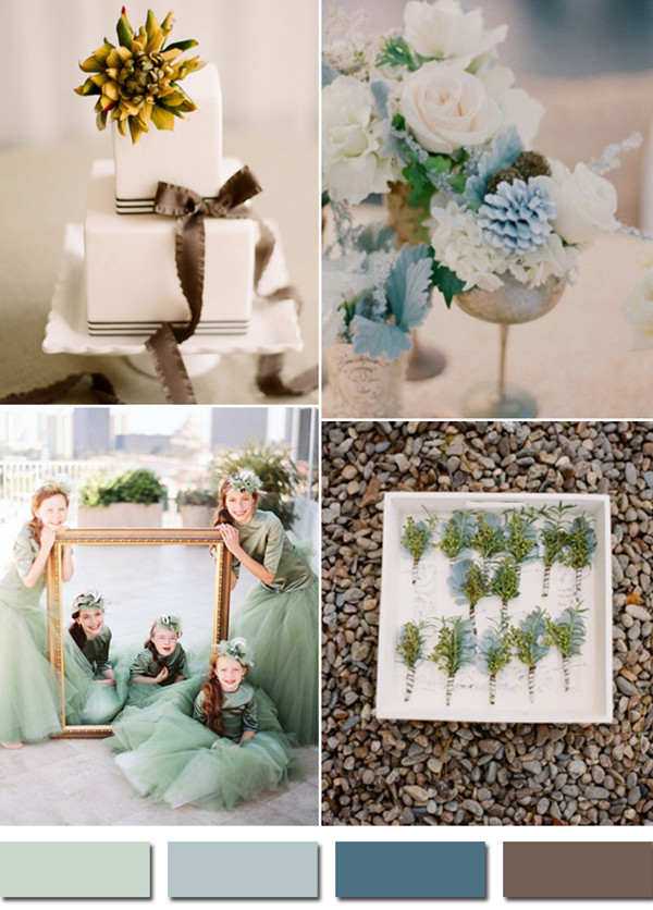 misted inspired colors for 2014 fall wedding ideas