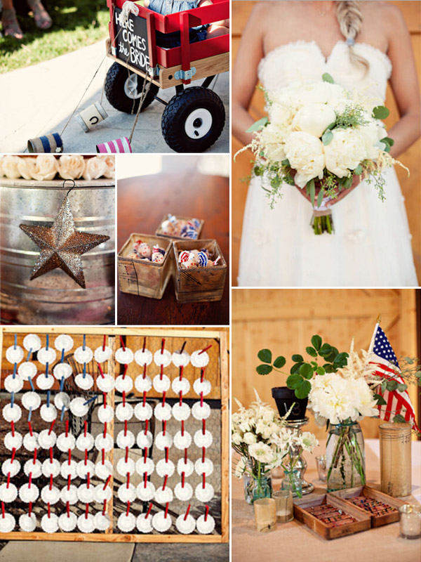 navy and red 4th of july country rustic wedding ideas