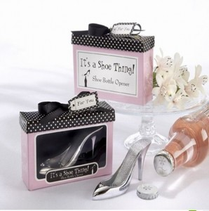 Modern high heels wedding favors bottle opener