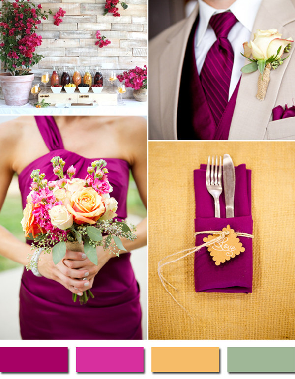 Fabulous 10 Wedding Color Scheme Ideas for Fall 2014 Trends ...