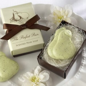 pear soap wedding favor for fall 2015