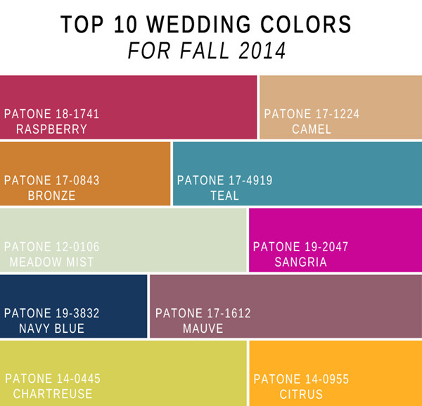fabulous 10 wedding color scheme ideas for fall 2014. Black Bedroom Furniture Sets. Home Design Ideas