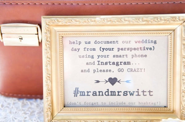 vintage wedding hashtag ideas with instagram 20145