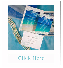 blue seaside beach theme wedding invitations cheap