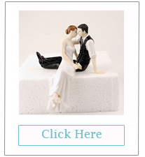 bride and groom romantic wedding cake toppers