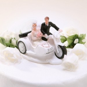 just married wedding cake topper