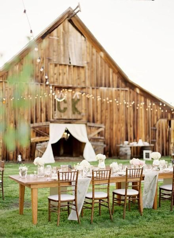 country rustic barn themed wedding ideas