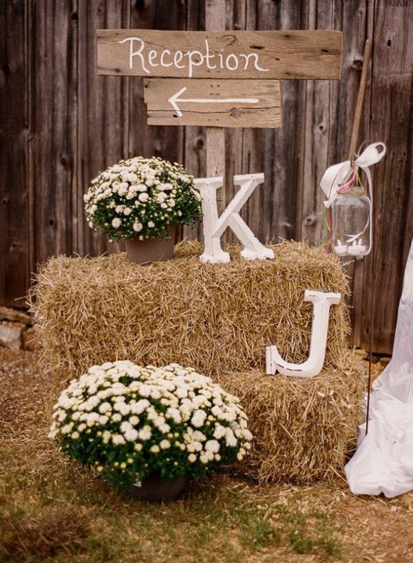 Country Rustic Themed Wedding Signs And Decoration Ideas