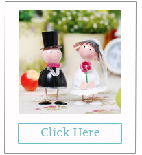 cute wedding cake topper bride & groom keepsake gifts
