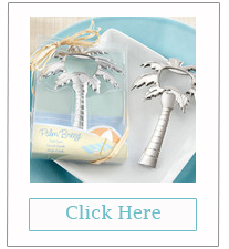 palm tree bottle opener beach themed wedding favors