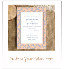 2015 trends peach and powder blue vintage wedding invitations ewi339