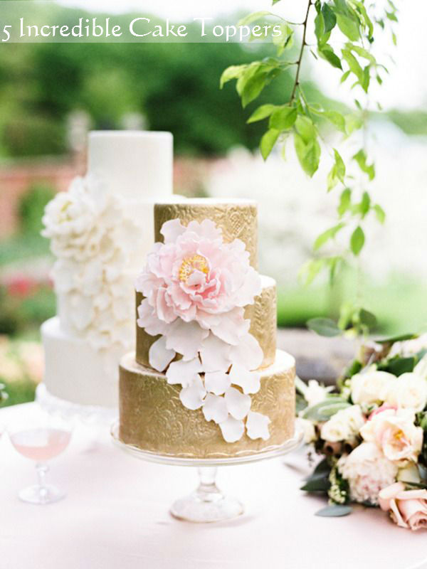 5 incredible cake topper inspiration