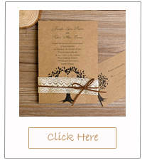 affordable rustic love tree lace wedding invitation cards