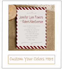 burgundy striped simple wedding invitation cards 2015 ewi293