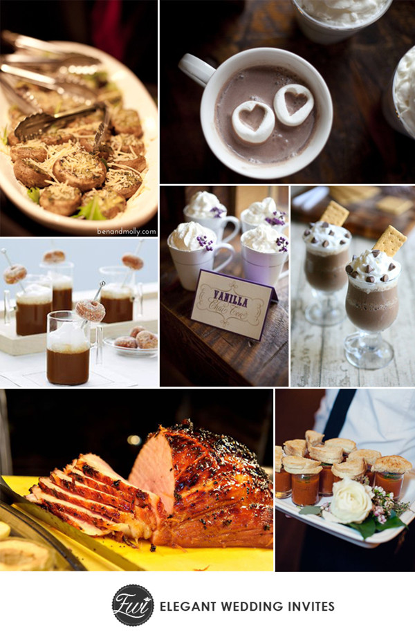 comfortable food and drinks for 2014 winter wedding trending ideas