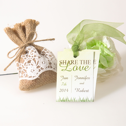 Spring Green Favor Tags