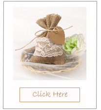country rustic lace and burlap chic wedding favor bags