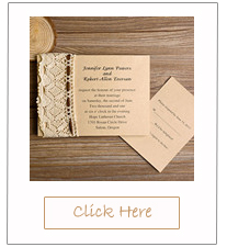 country rustic lace and burlap wedding invitations
