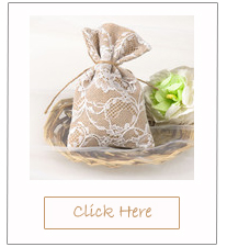 full lace and burlap wedding favor bags for rustic wedding ideas