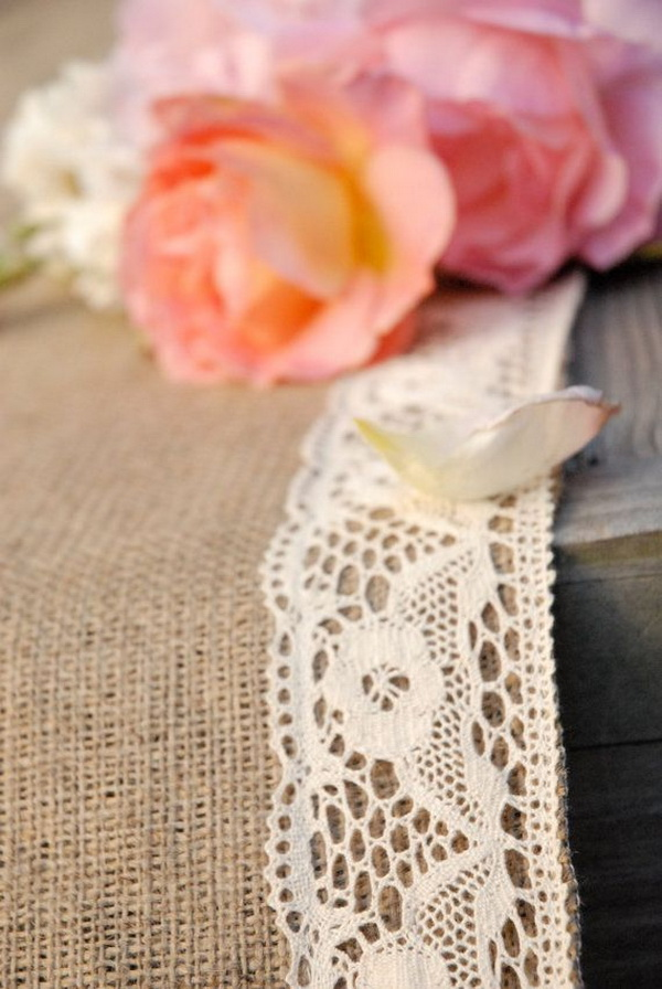 lace and burlap wedding decorations